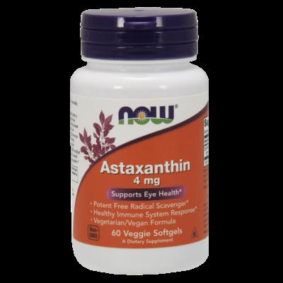 NOW Foods Astaxanthin 4mg (60 lágy kapszula)