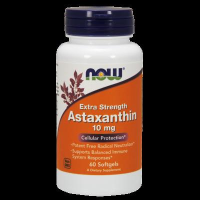 NOW Foods Astaxanthin Extra Strength 10mg (60 lágy kapszula)