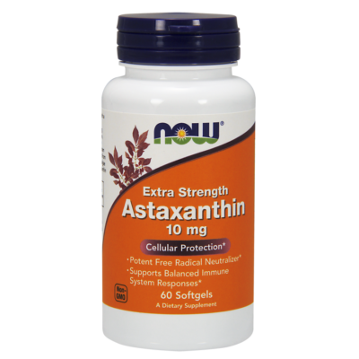 NOW Foods Astaxanthin Extra Strength 10mg (60 lágy kapszula)