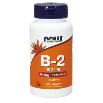 NOW Foods Vitamin B-2 (Riboflavin) 100mg (100 kapszula)