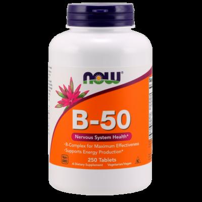 NOW Foods Vitamin B-50 (250 tabletta)