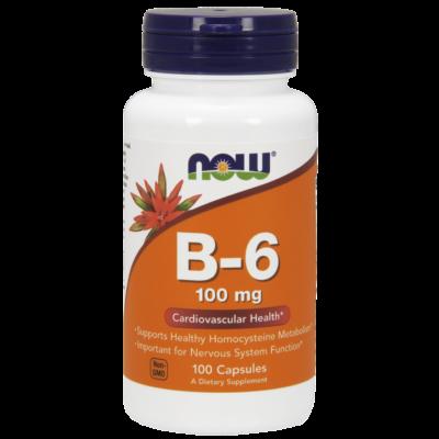 NOW Foods Vitamin B-6 100mg (100 kapszula)