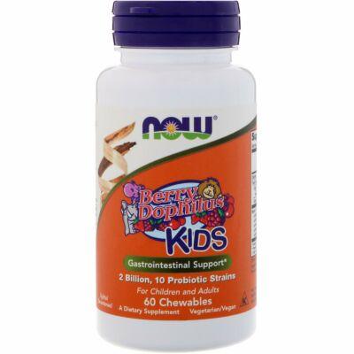 NOW Foods BerryDophilus™ (60 rágótabletta)