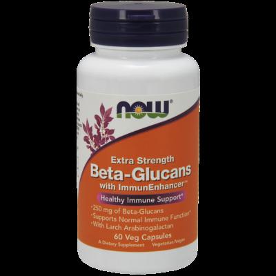 NOW Foods Beta-Glucans with ImmunEnhancer™ Extra Strenght 250mg (60 kapszula)
