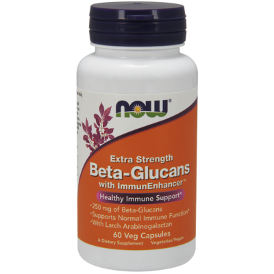 NOW Foods Beta-Glucans with ImmunEnhancer™ Extra Strenght 250mg (60 kapszula)