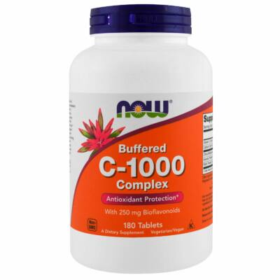 NOW Foods C-1000 Complex, Buffered (180 tabletta)