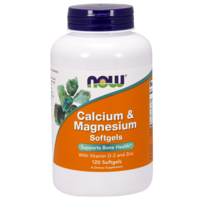 NOW Foods Calcium & Magnesium Softgels (120 lágy kapszula)