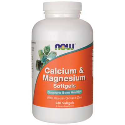 NOW Foods Calcium & Magnesium Softgels (240 lágy kapszula)