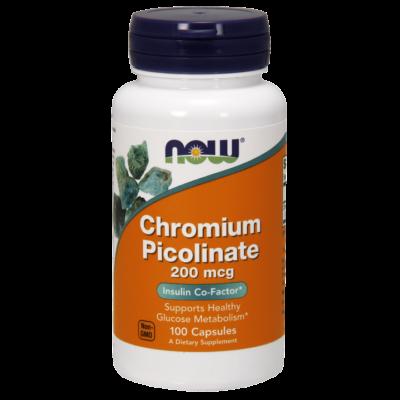 NOW Foods Chromium Picolinate 200mcg (100 kapszula)