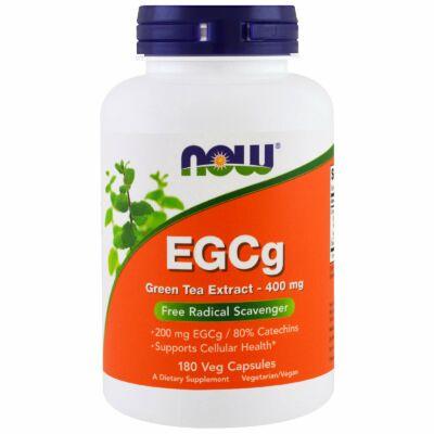 NOW Foods EGCg Green Tea Extract 400mg (180 kapszula) AKCIÓS!