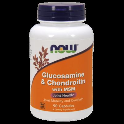 NOW Foods Glucosamine & Chondroitin with MSM (90 kapszula)