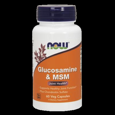 NOW Foods Glucosamine & MSM (180 kapszula)