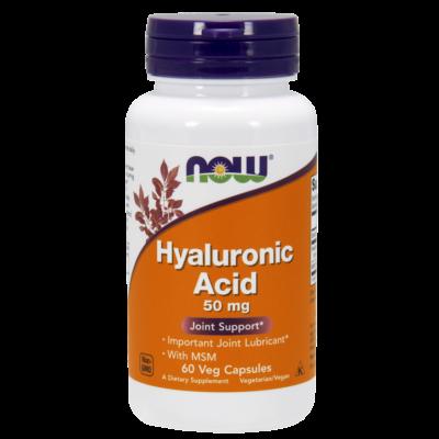 NOW Foods Hyaluronic Acid with MSM (60 kapszula)