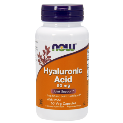 NOW Foods Hyaluronic Acid with MSM (60 kapszula)
