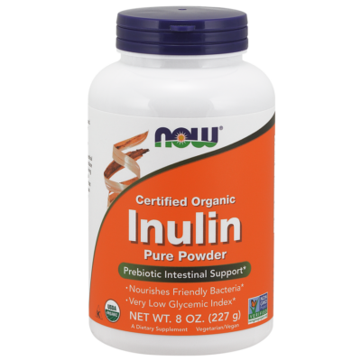 NOW Foods Inulin Powder, Organic (227g)