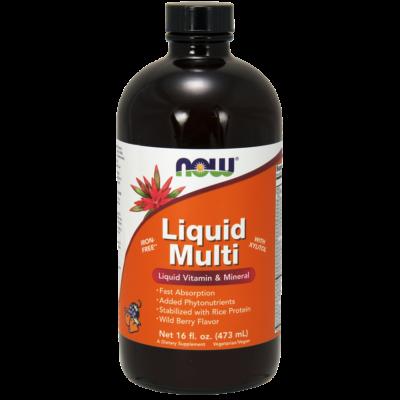 NOW Foods Liquid Multi Wild Berry (473ml)