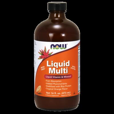 NOW Foods Liquid Multi Tropical Orange (473ml)
