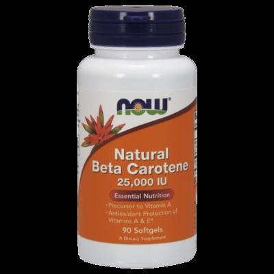 NOW Foods Natural Beta Carotene 25000 IU (90 lágy kapszula)