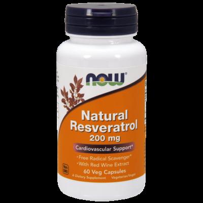 NOW Foods Natural Resveratrol 200mg  (60 kapszula)
