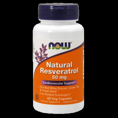 NOW Foods Natural Resveratrol 50mg (60 kapszula)