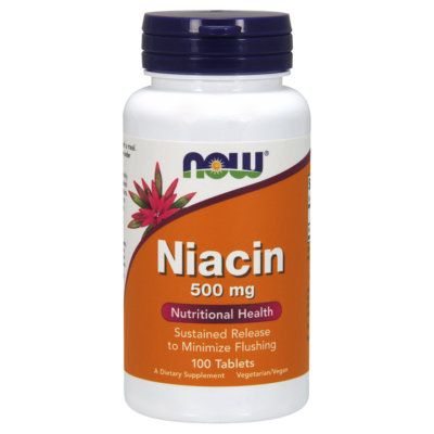 NOW Foods Niacin 500mg (100 tabletta)