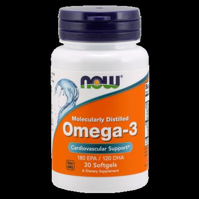 NOW Foods Omega-3 (30 lágy kapszula)