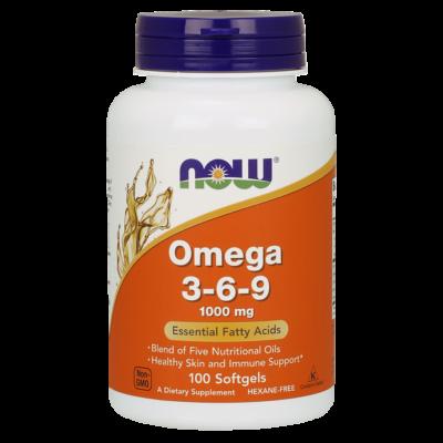 NOW Foods Omega 3-6-9 1000mg (100 lágy kapszula)
