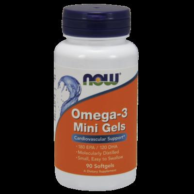 NOW Foods Omega-3 Mini Gels (90 lágy kapszula)