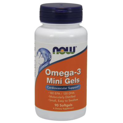 NOW Foods Omega-3 Mini Gels (90 lágy kapszula)