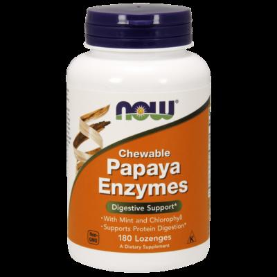 NOW Foods Papaya Enzymes Chewable (360 rágótabletta)