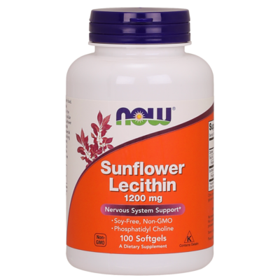 NOW Foods Sunflower Lecithin 1200mg (100 lágy kapszula)