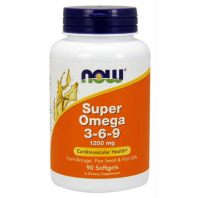 NOW Foods Super Omega 3-6-9 1200mg (90 kapszula)