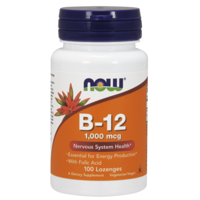 NOW Foods Vitamin B-12 1000mcg (100 szopogató tabletta)