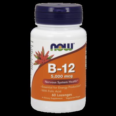 NOW Foods Vitamin B-12 5000mcg (60 szopogató tabletta)