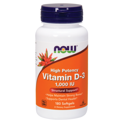 NOW Foods Vitamin D-3 1000IU (180 lágy kapszula)