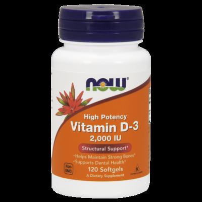 NOW Foods Vitamin D-3 2000IU (120 lágy kapszula)