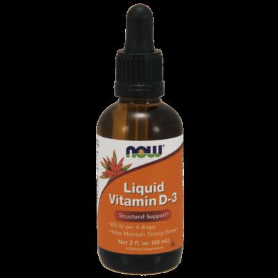 NOW Foods Vitamin D-3 Liquid (60ml)