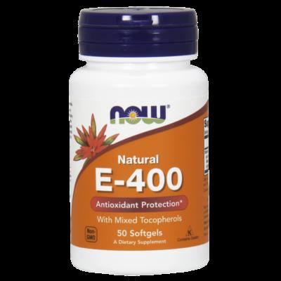 NOW Foods Vitamin E-400 IU MT (50 lágy kapszula)