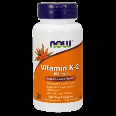 NOW Foods Vitamin K-2 100mcg (100 kapszula)