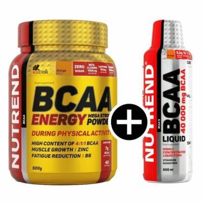 Nutrend BCAA Energy Mega Strong Powder (500g) + BCAA Liquid (500ml)