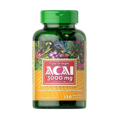 Puritan's Pride Acai 3000 mg (120 lágy kapszula)