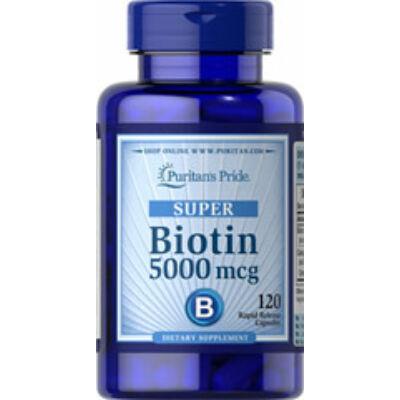 Puritan's Pride Biotin 5000mcg (120 kapszula)