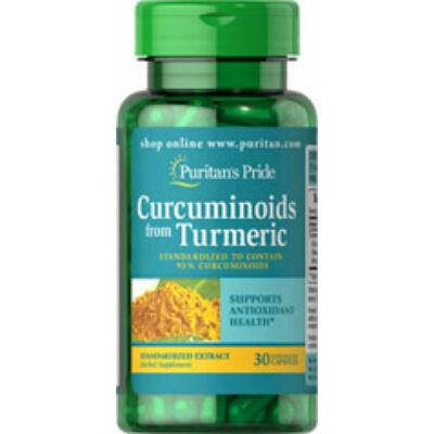Puritan's Pride Curcuminoids From Turmeric (30 kapszula)
