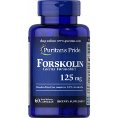 Puritan's Pride Forskolin Coleus Forskohlii 125mg (60 kapszula)