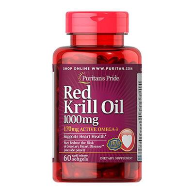 Puritan's Pride Red Krill Oil 1000mg (60 lágy kapszula)