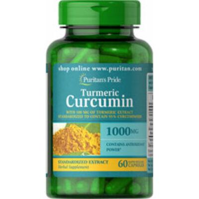 Puritan's Pride Turmeric Curcumin 1000mg (60 kapszula)
