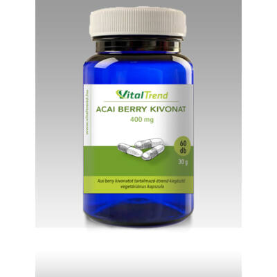 Vital Trend Acai berry kivonat 400 mg (60 kapszula)