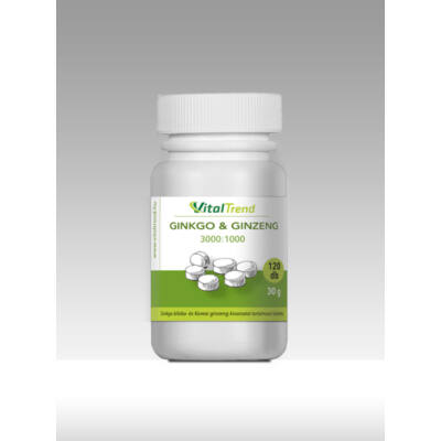 Vital Trend Ginkgo & Ginzeng (120 tabletta)